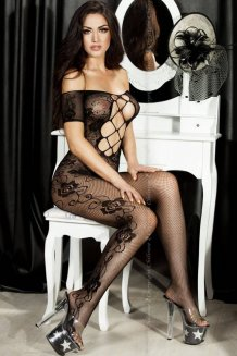 Čierny Bodystocking - CR3525