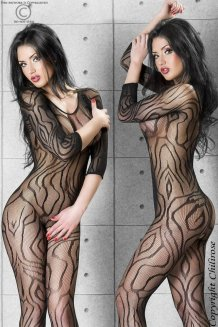 Čierny Bodystocking - CR3237