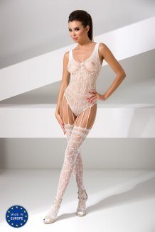 Biely Bodystocking - BS051
