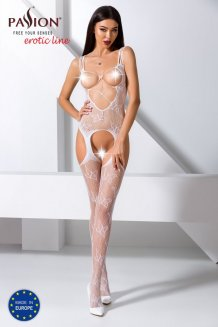 Biely Bodystocking - BS075