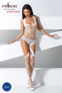 Biely Bodystocking - BS060