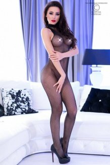 Čierny Bodystocking - CR4308