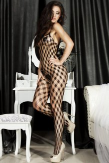 Čierny Bodystocking - CR3527